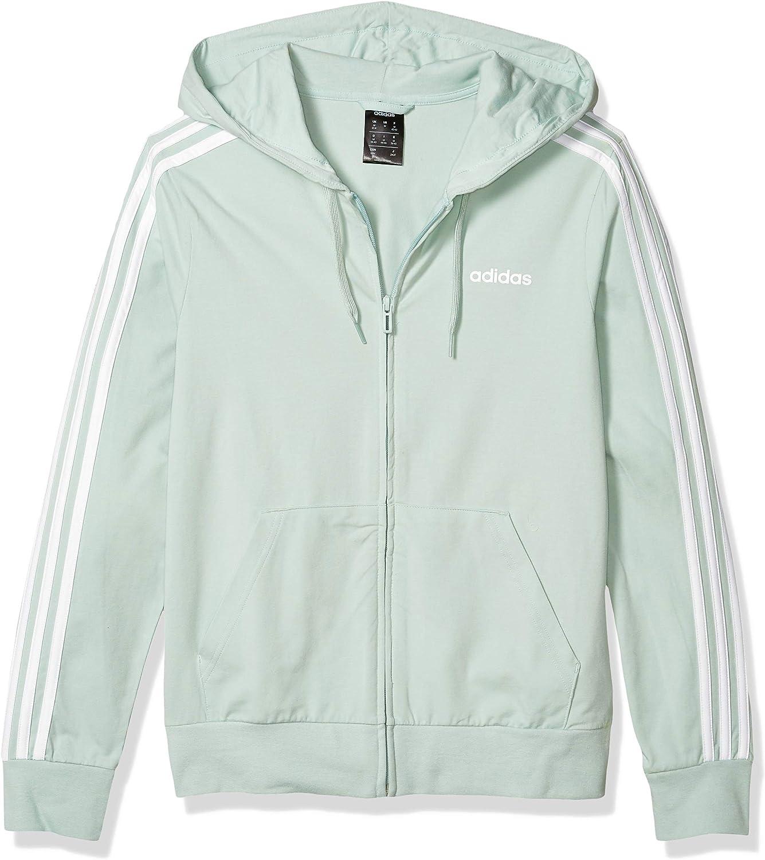 adidas Damen Jacke Essentials 3s Single Jersey Full Zip Hoodie