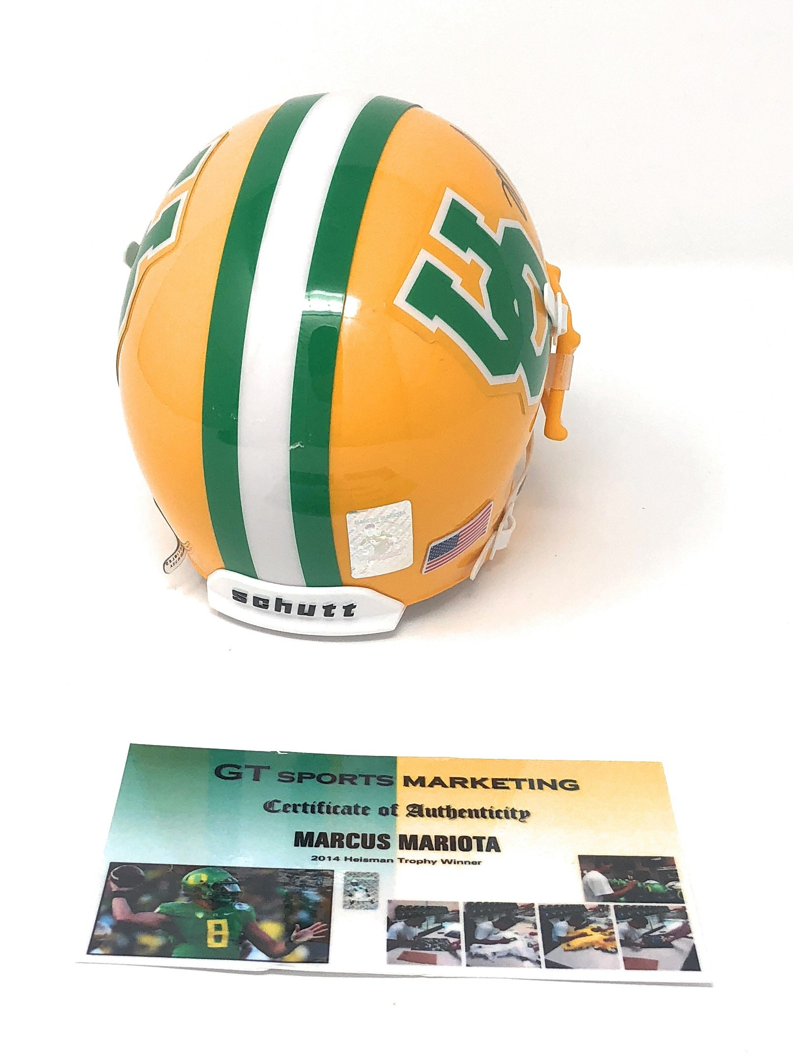 Marcus Mariota Oregon Ducks Signed Autograph Mini Helmet Mariota GTSM Player Hologram