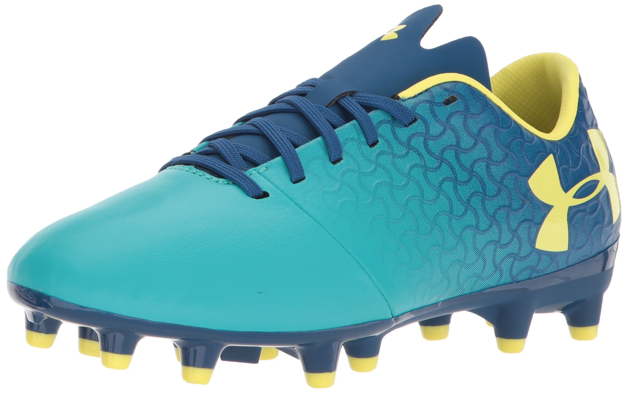 Under Armour Magnetico Select JR FG Soccer Shoe, Teal Punch (300)/Moroccan Blue, 5.5