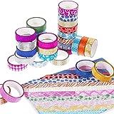 Faburo 30 rouleaux Washi Tape Ruban Adhésif Papier Décoratif Masking tape pour Scrapbooks Bricolage Arts Artisanat Fournitures de Bureau
