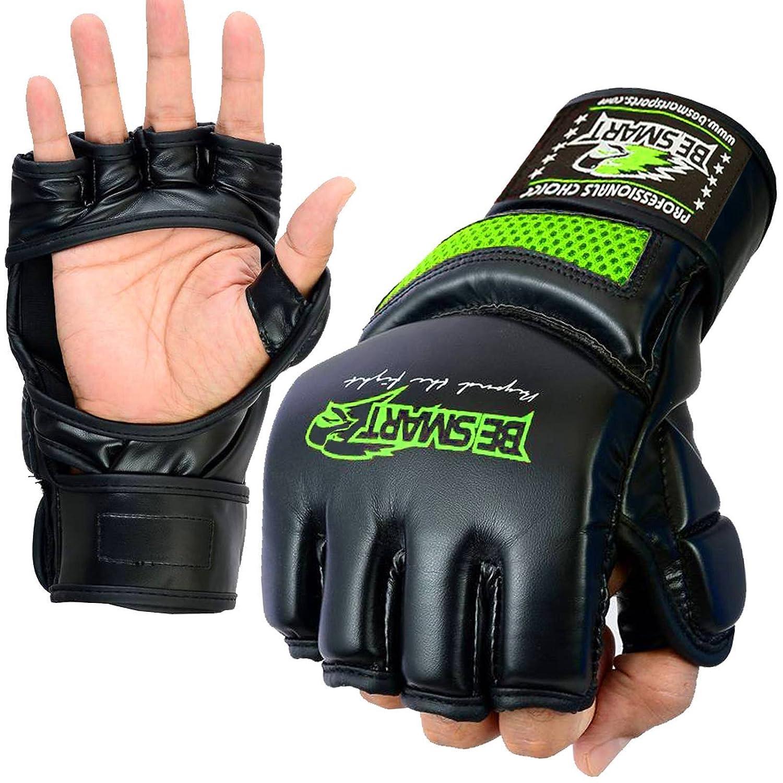 piel de conejo Rex BeSmart Guantes de gel para boxeo y artes marciales mixtas para saco de boxeo muay thai y UFC