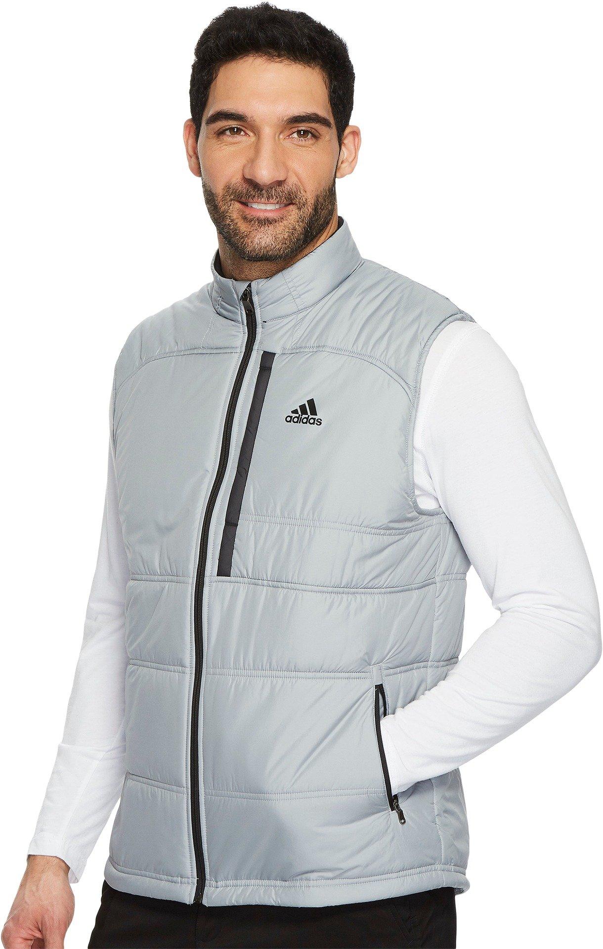 adidas Golf Men's Climaheat Primaloft Full Zip Vest, Mid Grey, XX-Large by adidas (Image #1)