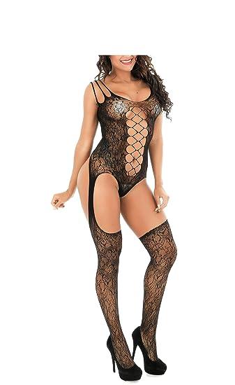 616381248e OnMeFocus Women s Spandex and Nylon Bodystocking Hot Lingerie Dress (W4090