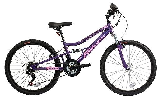 Falcon Siren Girls Mountain Bike Purple Pink 15 Inch Steel