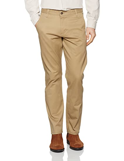 Mens Alpha Original Khaki Slim Tapered-Stretch Twill Trouser Dockers PxTfebx