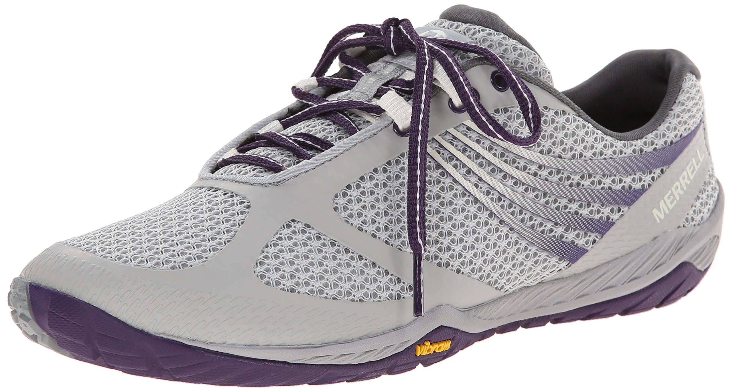 Merrell Women's Pace Glove 3 Trail Running Shoe,Light Grey/Parachute Purple,10 M US