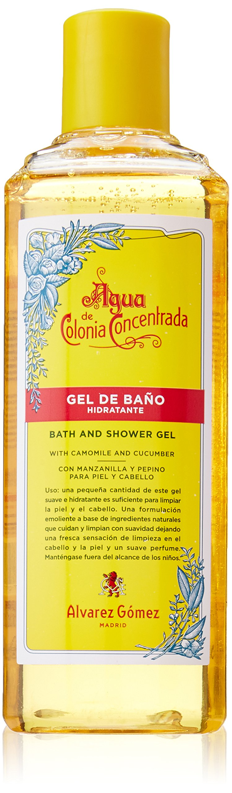 Alvarez Gomez Agua De Colonia Concentrate for Men Bath and Shower Gel, 10.5 Ounce