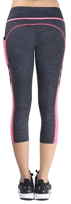 Munvot Mujer Mallas Deportivas Pantalones Cortos con Bolsillo para Running Fitness Yoga