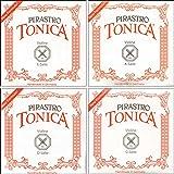 Pirastro Tonica Series Violin String Set 3/4-1/2 Size Medium