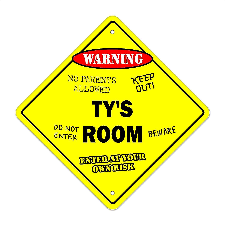 Ty's Room Sign Crossing Zone Xing | Indoor/Outdoor | 12