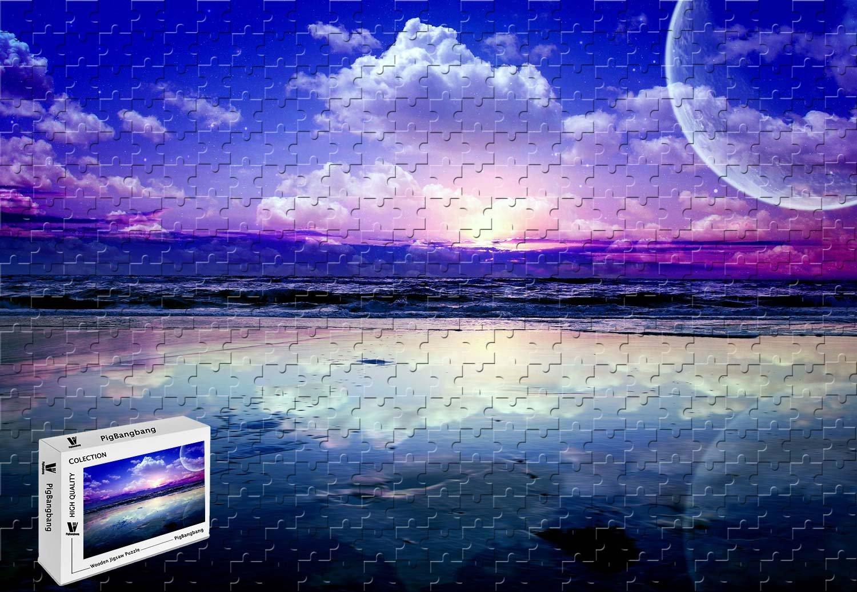 堅実な究極の pigbangbang – –、29.5 X 19.6インチ 19.6インチ、木製、木製 – アート風景海波Planetsスカイ雲星水反射 – 1000ピースジグソーパズル B07FXDZRNW, 東筑摩郡:07341f01 --- a0267596.xsph.ru