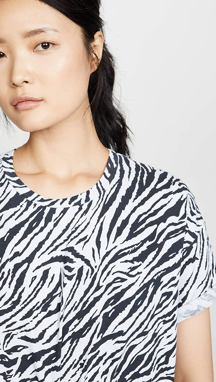 SUNDRY Womens Zebra Oversize Tee
