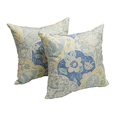 Blazing Needles Garden Dream 17-inch Throw Pillow (Set of 2), White : Garden & Outdoor
