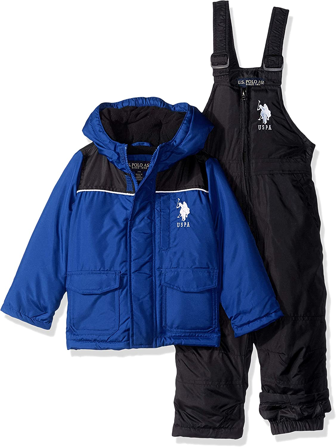 Baby Boys 2 Piece Snowsuit with Ski Bib Pant Set Polo Assn U.S
