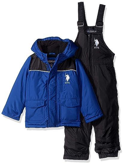 067aac22c709 Amazon.com  U.S. Polo Assn. Baby Boys 2 Piece Snowsuit with Ski Bib ...