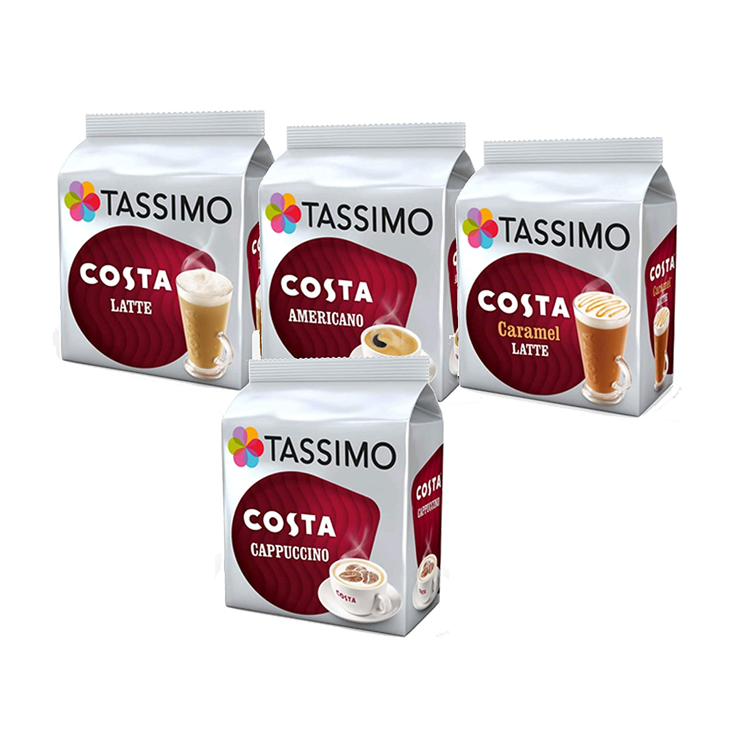 Details About Tassimo Costa Coffee Lovers Bundle Variety Pack Box T Discs Pods 40 Drinks Cups