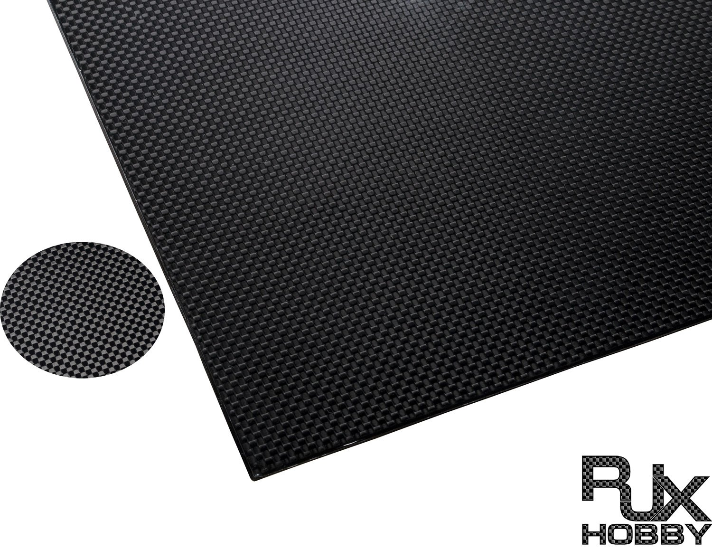 Plain Weave,Glossy Surface RJXHOBBY 3K 100/% Full Carbon Fiber Sheet 600x500x2.0mm