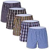 M MOACC Men's Colorful Woven Boxer Underwear 100% Cotton Premium Quality Shorts