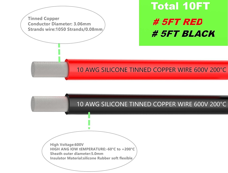 elektrische kabel 10 awg silikon draht haken auf draht kabel 3 m (1 ...