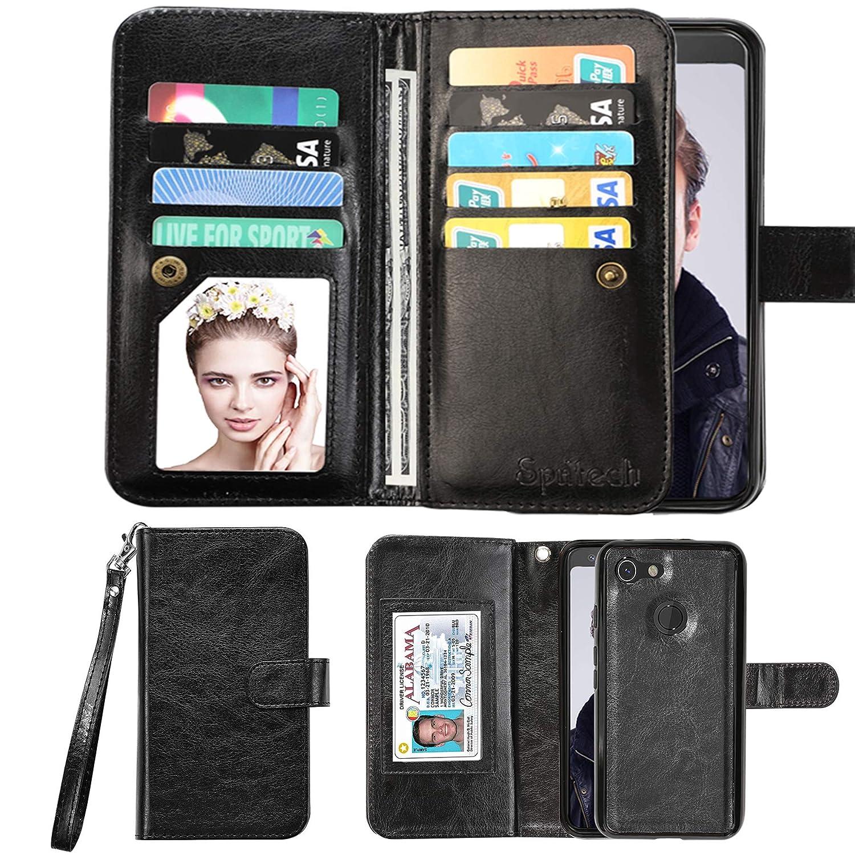 Spritech LG Fortune/LG Phoenix 3 Case,LG Aristo/Risio 2 Wallet Case,LG  Rebel 2 LTE / LV3 PU Leather Case, Credit Card Slots Carrying Folio Flip  Cover