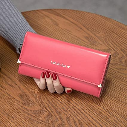 8f57d99ff Amazon.com: Xingny Women's Wallet, Fashionable Bifold Walllet Card Case  Clutch Bag PU Leather Purse for Travel Party (Color : 02): Sports & Outdoors