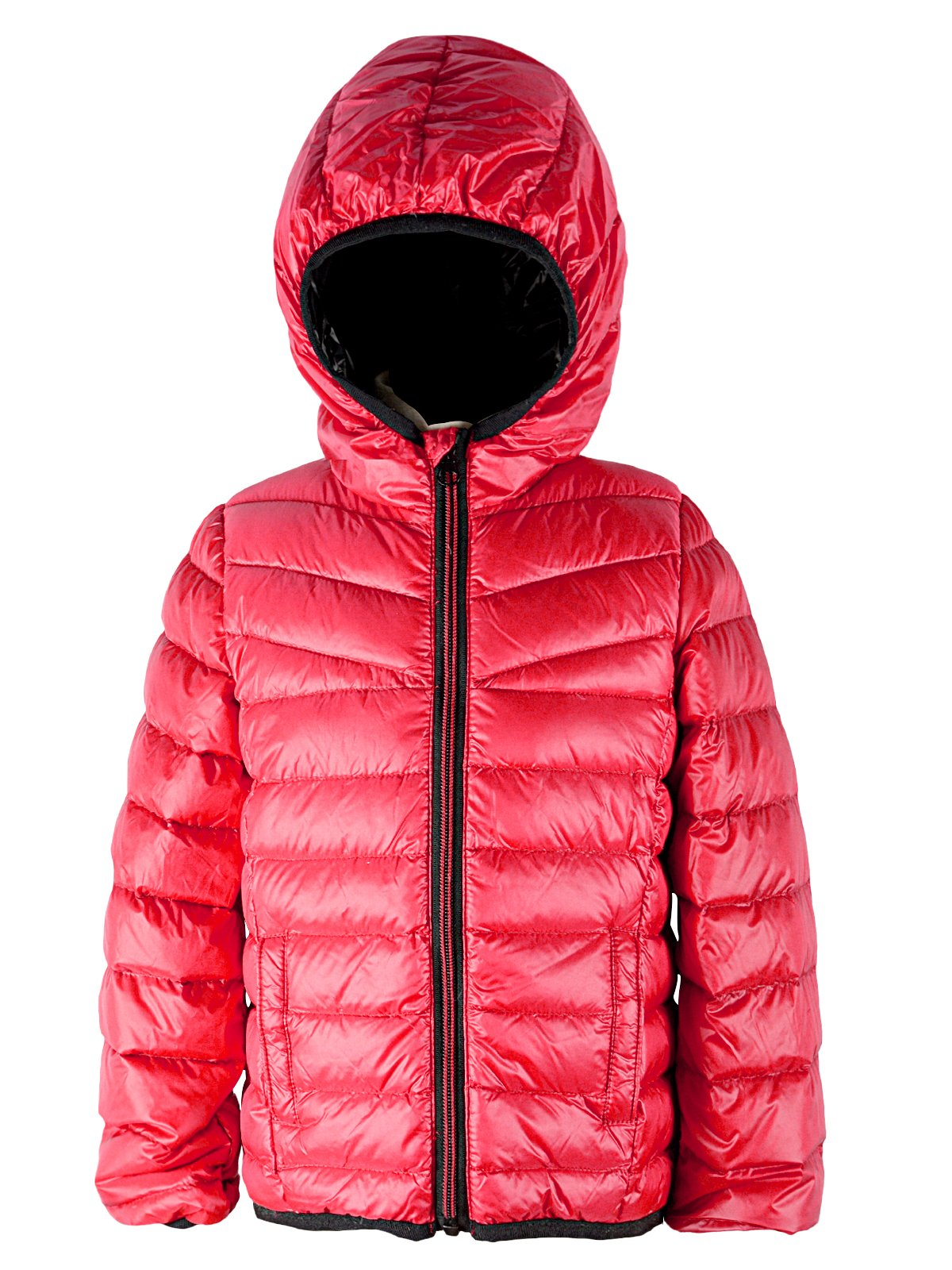eff5a96feee54 American Trends Kids Warm Down Jackets For Girls Boys Puffer Winter Coat Lightweight  Packable Hooded Parka Zipper Outerwear Red 2-3T Label 110