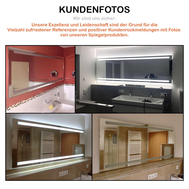 Arezzo Design  LED BADSPIEGEL mit Beleuchtung Beleuchtung Beleuchtung - Made in Germany - individuell nach Maß - Auswahl  (Breite) 150 cm x (Höhe) 60 cm - LED Lichtfarbe  neutralweiß - Modell  2204501 738044