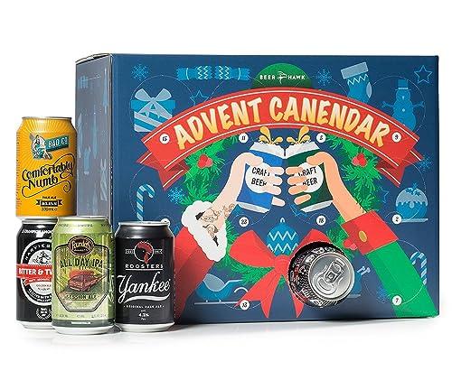 Beer Hawk 2017 Craft Beer Advent Calendar Gift Idea, Case of 24 Cans