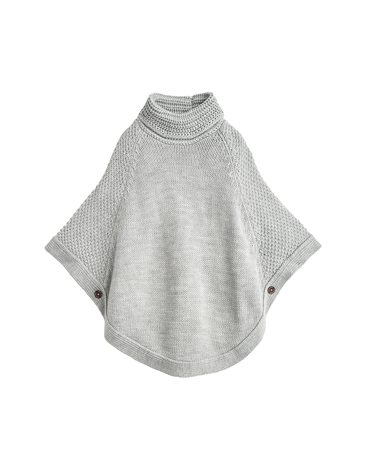Joules Knitted Poncho - Grey Marl