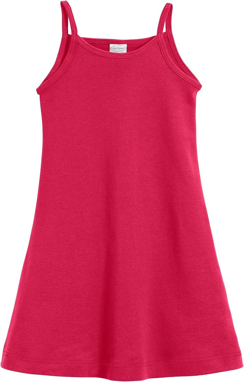 City Threads Girls' 100% Cotton Cami Summer Dress Spaghetti Strap - Made in USA