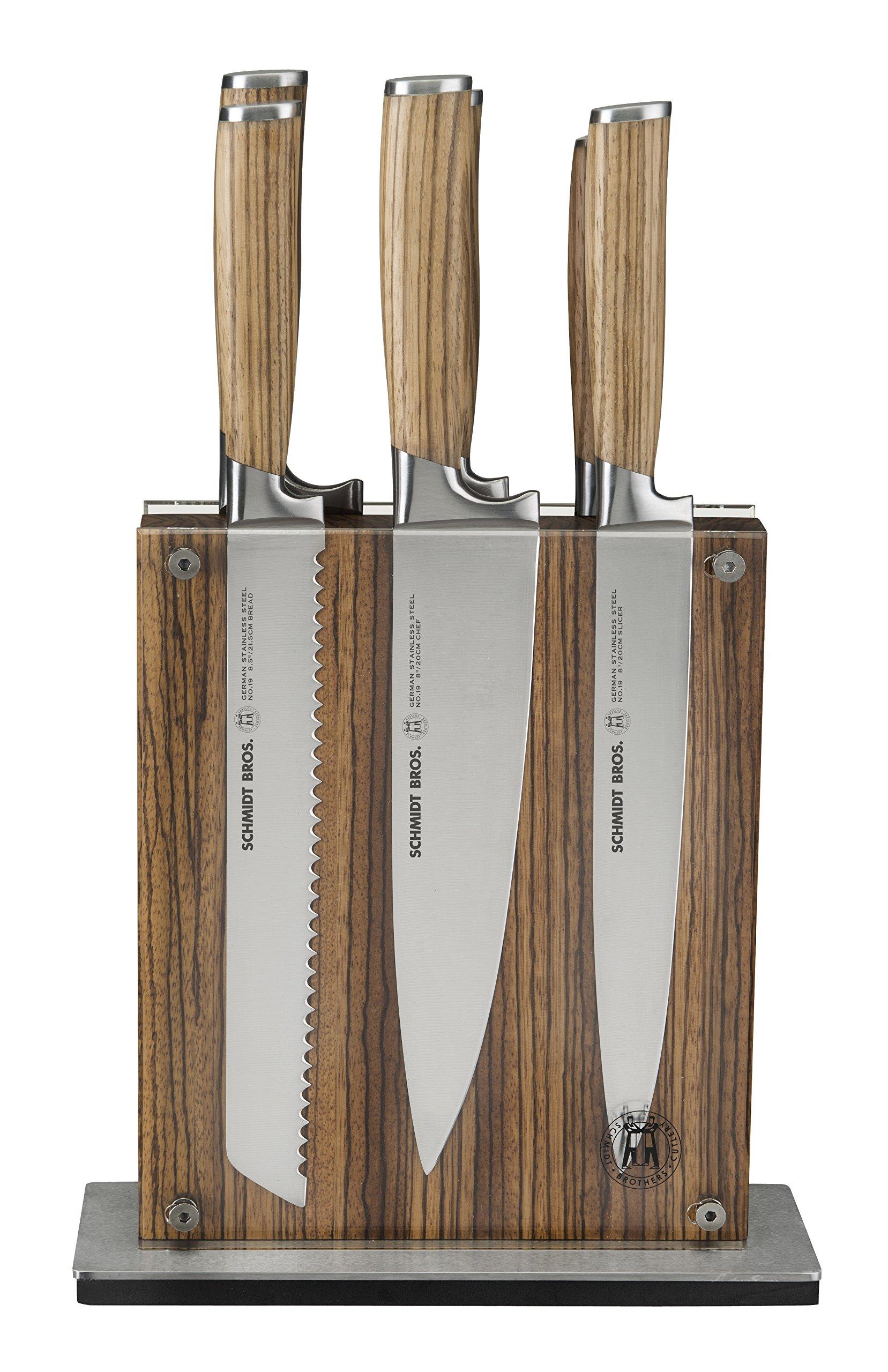 Hudson Home Schmidt Brothers Cutlery ,SZEWS07,#19 Zebra wood 7pc set