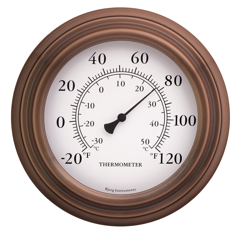 "8"" Antique Copper Finish Decorative Indoor / Outdoor Thermometer"