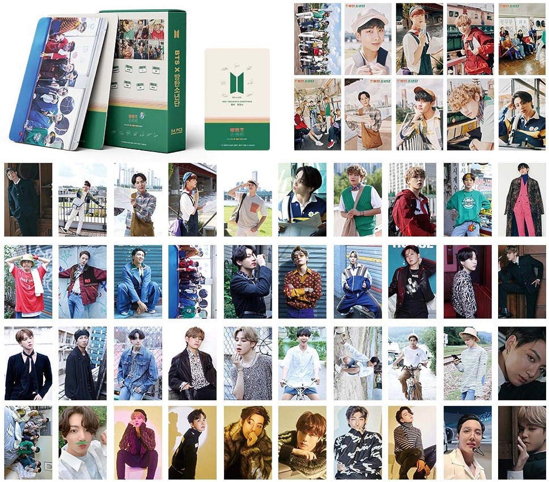 AMZYY BTS Lomo Cards BTS Map of The Soul 7 Card Nuevo /álbum Card BANTAN Boys BTS Postales Mapa 7 Tarjetas 54 Uds