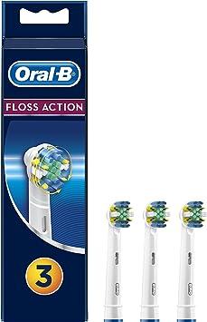 Oral-B FlossAction - Cabezal de Recambio, Set de 3 Recambios para Cepillo de Dientes Recargable, Limpieza Diente por Diente: Amazon.es: Salud y cuidado personal
