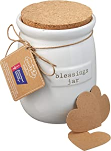 Mud Pie Inspirational Count Your Blessings Jar Set - 4775001