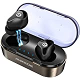 Wireless Bluetooth Earbuds,ANROOG A8 Latest TWS Bluetooth 5.0 True Wireless Earbuds 35H Playtime 3D Stereo Sound Wireless Headphones,Built-in Microphone,Gift Box