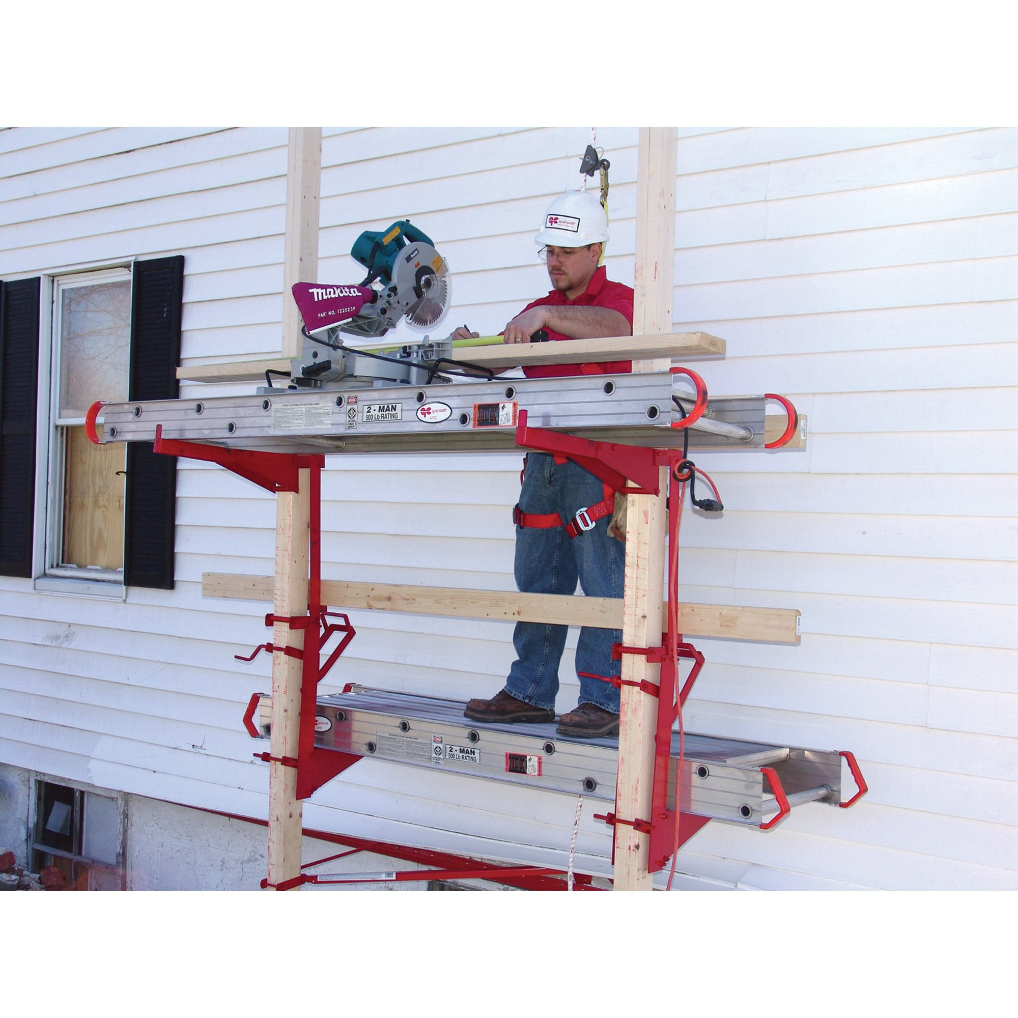 Qual-Craft Steel Pump Jack System Kit - 500-Lb. Capacity, Model Number 2214 by Qualcraft