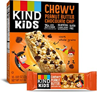 product image for KIND Kids Granola Chewy Bar, Peanut Butter Chocolate Chip, 10 Count (6 Pack)