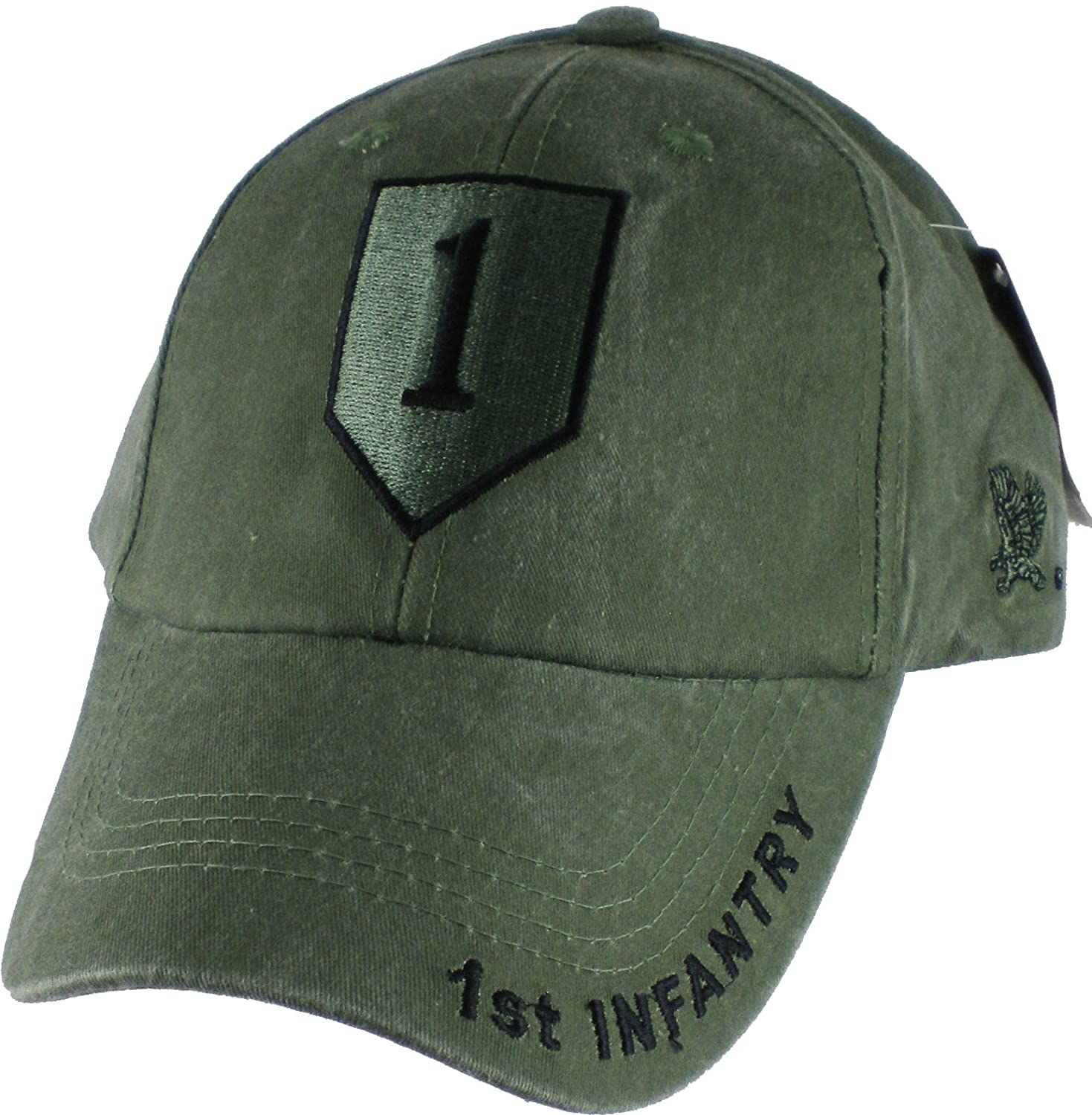 855e5842824 Amazon.com  1st Infantry Division Tonal Color Insignia Adult Cap   Adjustable - Green   Sports   Outdoors