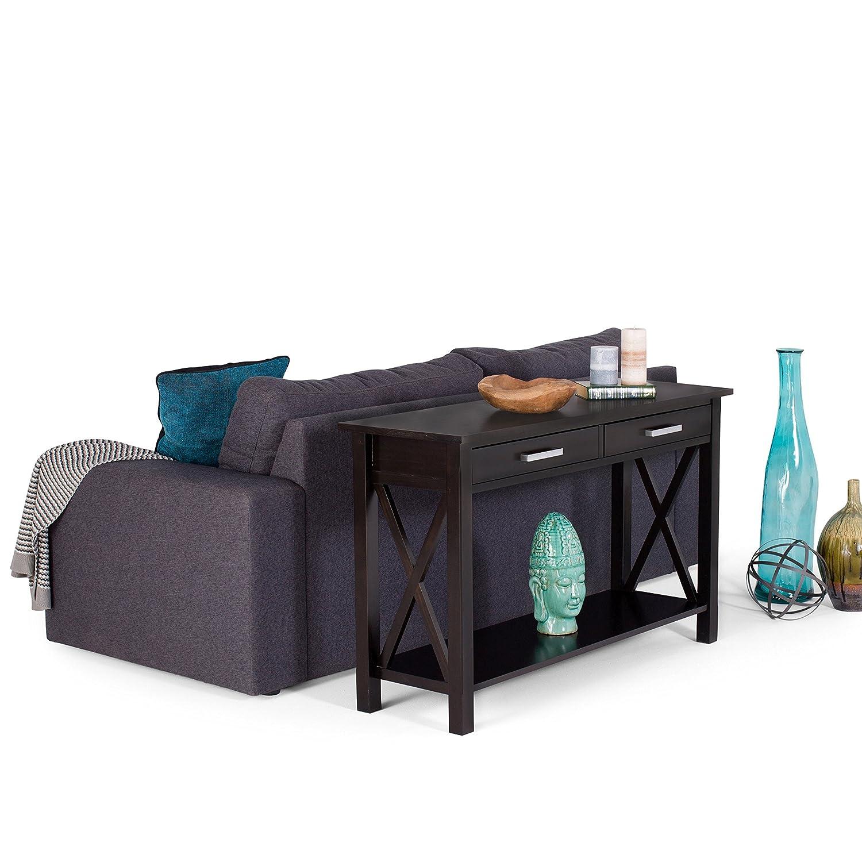 United Furniture Warehouse Kitchener Amazoncom Simpli Home Kitchener Console Table Dark Walnut Brown