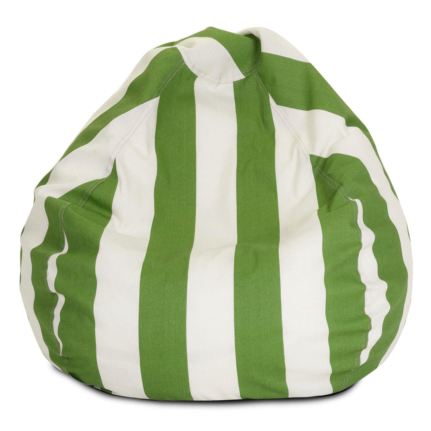 Majestic Home Goods Vertical Stripe Bean Bag, Small, Sage