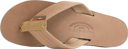 Rainbow en caoutchouc classique simple couche Femmes Flipflop Sandale