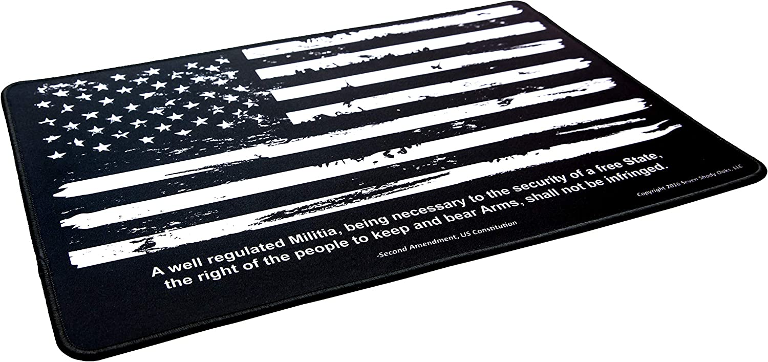 """Ultimate Rifle Build Distressed Flag Gun Cleaning Mat 11""""x17"""" : Sports & Outdoors"""