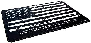 "Ultimate Rifle Build Gun Cleaning Mat 11""x17"" - Distressed Flag & 2nd Amendment"