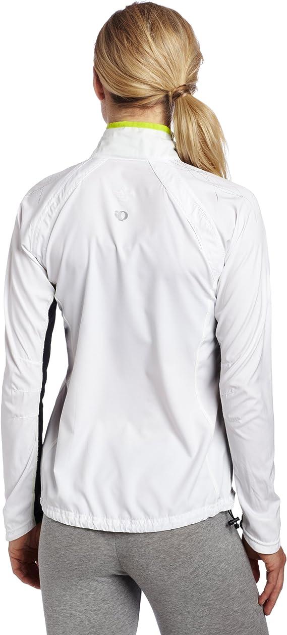 PEARL IZUMI Womens Infinity Softshell Jacket Large White//Lime