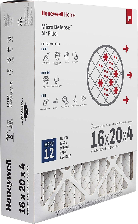 Honeywell Home CF200A1620/E High Efficiency AC Furnace Air Filter 16 x 20 x 4 MERV 12 (1 pk)