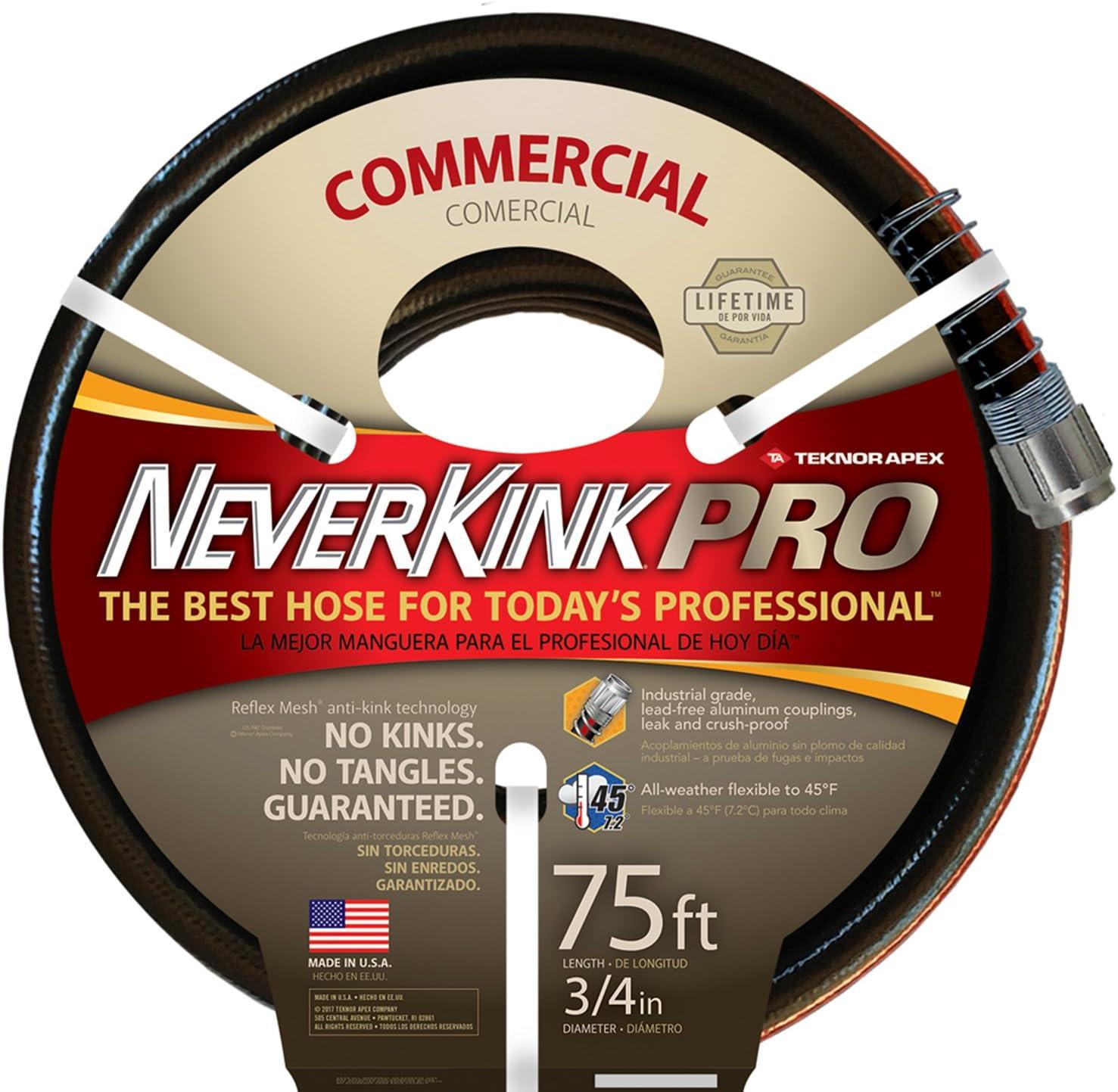 Teknor Apex Neverkink, 9844-75 PRO Water Hose, 3/4-in x 75-feet