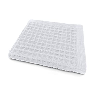 K-25 Waffle Face Towel, 14 x13 , Extra Large Washcloth, Ultra Absorbent, Fast Drying, Soft 100% Cotton, Lightweight, k25 Los Angeles Bath Towels (Face Towel, Glacier Gray)