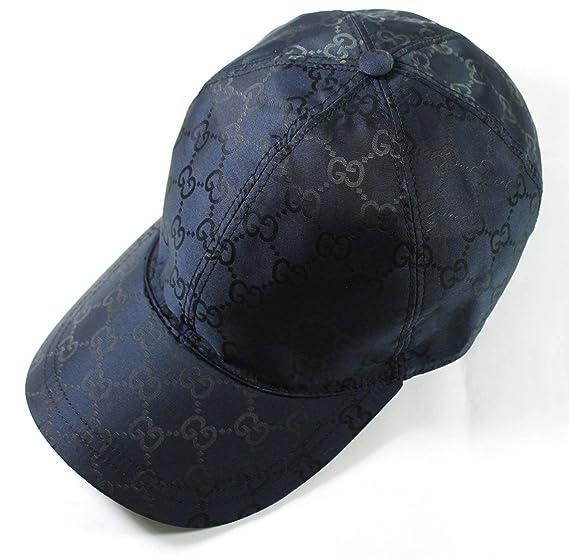 Gucci GG Nailon Firma Web diseño de Rayas Gorra de béisbol, Azul ...