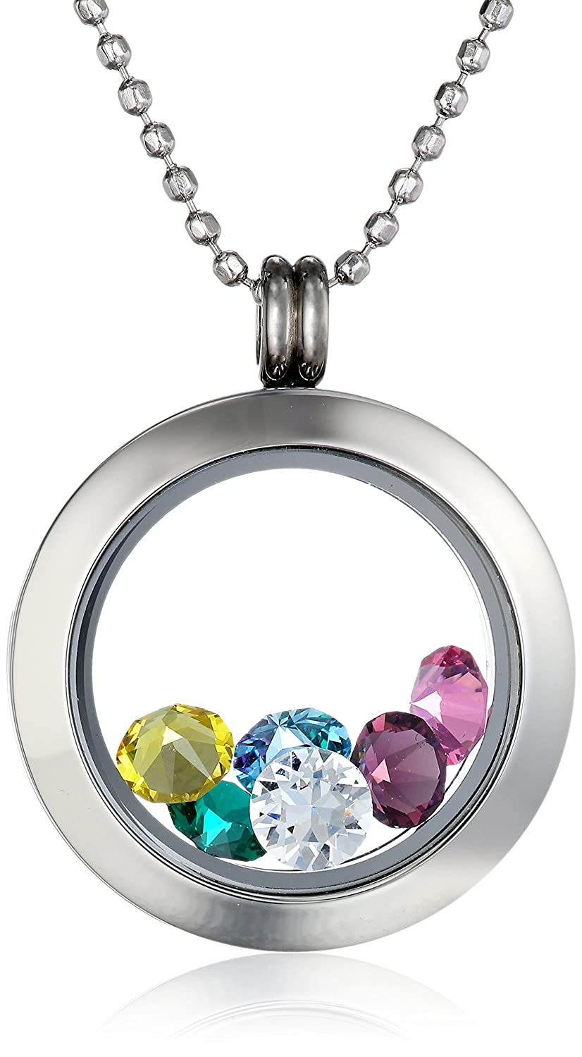 lockets with necklaces circle pieces m necklace you charms of glass clear locket charm o l inside